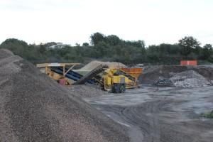 Impianto recupero rifiuti edili